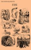 The four elements: Fire. Caricatures on the subject, old print Stock Photos
