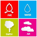 Four Elements Icons Set. Royalty Free Stock Images