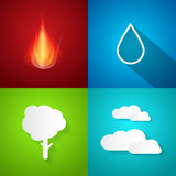 Four Elements Illustration Stock Photography