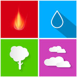Four Elements Illustration Royalty Free Stock Image