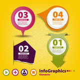 Four elements of infographics for your design Royalty Free Stock Images
