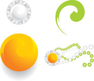 Four elements for jewelry web design. Illustration Stock Images