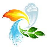 The four elements of life Stock Images