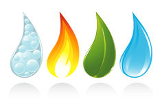 The four elements of life. Vector-Illustration Royalty Free Stock Images