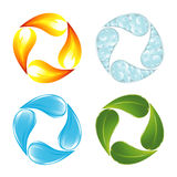 The four elements of life Stock Image