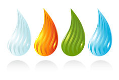 The four elements of life Stock Photos