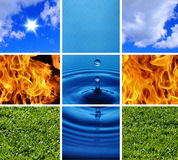 Four elements of the nature # 1 Stock Photo