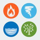 Four elements - vector icons #1 Royalty Free Stock Images