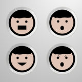Four emotion of face -  illustration. Stock Photography