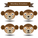 Four Emotion of monkey face Stock Images