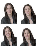 Four Emotions Of Young Lady Royalty Free Stock Image