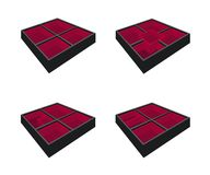 Four Empty Bento Box on White Background Royalty Free Stock Images