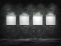 Four empty frames Stock Images