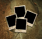 Four empty grunge frame Royalty Free Stock Photo