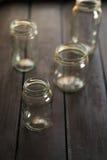 Four empty jars Royalty Free Stock Image