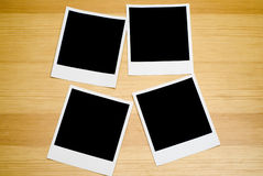 Four Empty Photos. Four empty pictures to be used easily in designs Stock Images