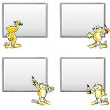 Four empty whiteboards Royalty Free Stock Photo