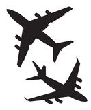 Four-engine straallijnvliegtuigen in de lucht Stock Fotografie