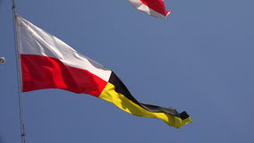 Four-ensign. A triangle. 4K. stock footage