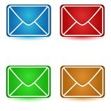 Four envelopes Royalty Free Stock Image