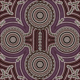 Four equal. A illustration based on aboriginal style of dot painting depicting four equal Royalty Free Stock Images