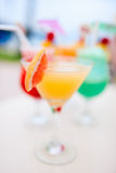 Four exotic cocktails Royalty Free Stock Image