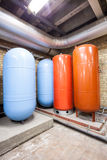 Four expansion boilers Stock Photo