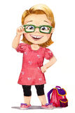 Four-eyes girl Royalty Free Stock Image