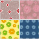 Four fabric. Four bright summer and spring fabric royalty free illustration