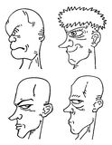 Four face draws Stock Images