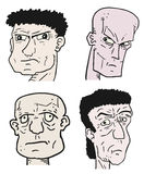 Four face man Stock Photography