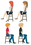 Four faceless people sitting Royalty Free Stock Photos