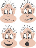 Four faces. With different mimics. This file is also available as Illustrator-file Stock Photography