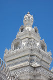 Four faces buddha. White Four faces buddha at Wat Ming Muang, Nan,Thailand Royalty Free Stock Photos
