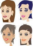 Four faces of woman Royalty Free Stock Image