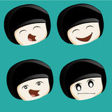 Four facial expressions Royalty Free Stock Photo