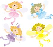 Four fairies Royalty Free Stock Image