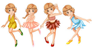 Four fairies in beautiful outfit Royalty Free Stock Photo
