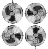 Four Fans. Front View. Silver Color Royalty Free Stock Image