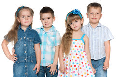 Four fashion children Stock Photo