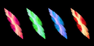 Four Feathery Abstract Elements Royalty Free Stock Photography