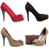 Four female high-heeled shoes Stock Photo