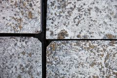 Four ferroconcrete blocks stock photos