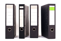 Four files side by side Stock Photography