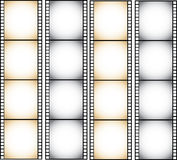 Four Filmstrip illustration isolated on white background Stock Photography