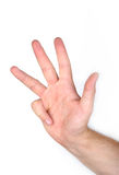 Four fingers Royalty Free Stock Image