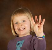 Four fingers royalty free stock photo
