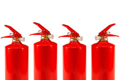 Four fire extinguishers Stock Image