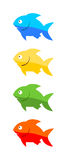 Four fish Royalty Free Stock Photography