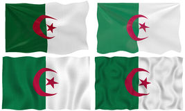 Four flags of algeria Royalty Free Stock Images